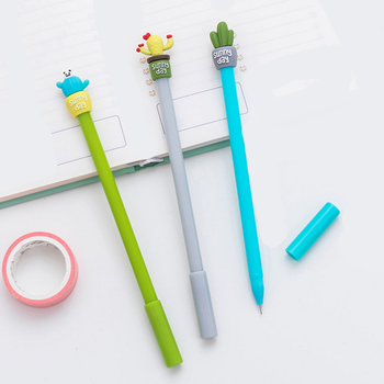 Natural Cactus Potted Plant Personalised Pens Promotional For School