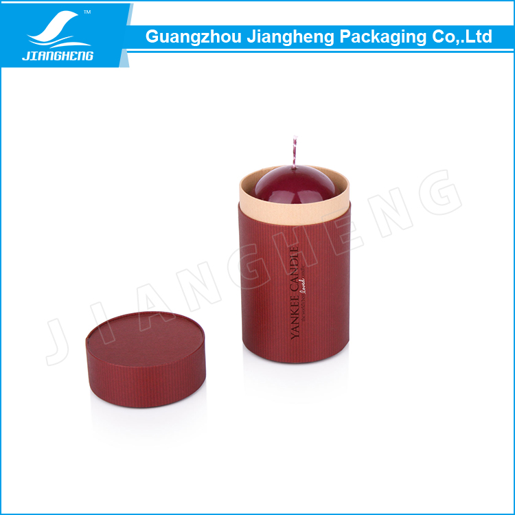 Circle shape paper candle cardboard box packaging for sale