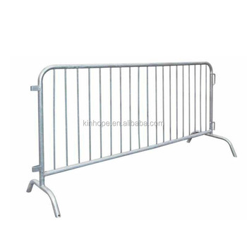 Galvanized steel crowd control temporary road barrier fence