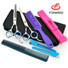 stainless steel hair baber scissors leather bag case for wholesale