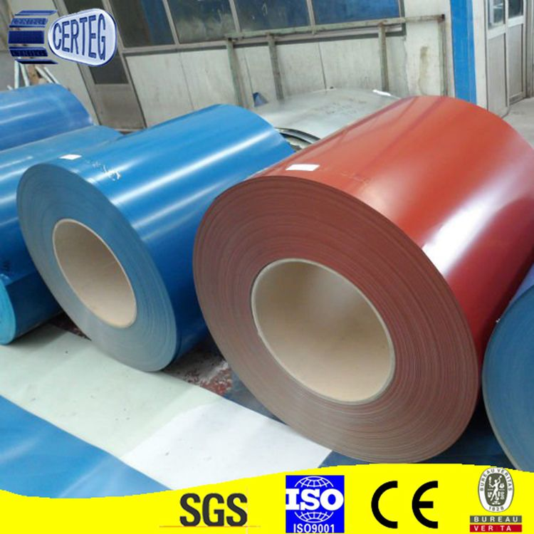 Prepainted galvanized steel coil from shandong manufacture PPGI PPGL steel coil