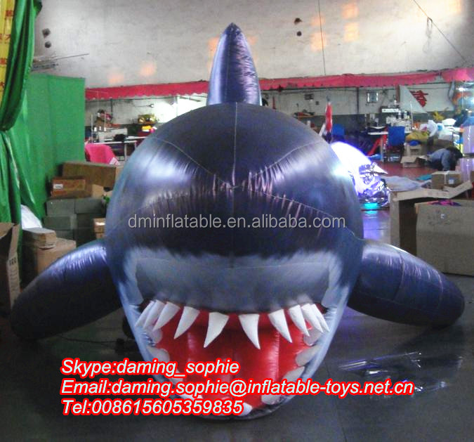 Customize inflatable shark replica for advertising