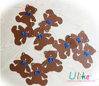 TEDDY BEAR PAPER GARLAND BABY SHOWER BIRTHDAY PARTY HANGING DECORATION