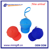 New design cap shaped silicone material coin purse/coin bag/coin wallets
