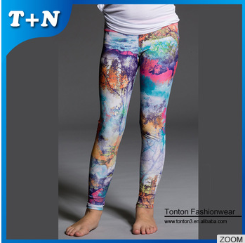 fitness yoga pants , printing children toddler leggings wholesale
