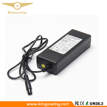 Factory UL CE Approved 42V 1.5A 3 Prong Inline Universal Lithium Battery Power Charger Adapter for Electric Self Balance Scooter