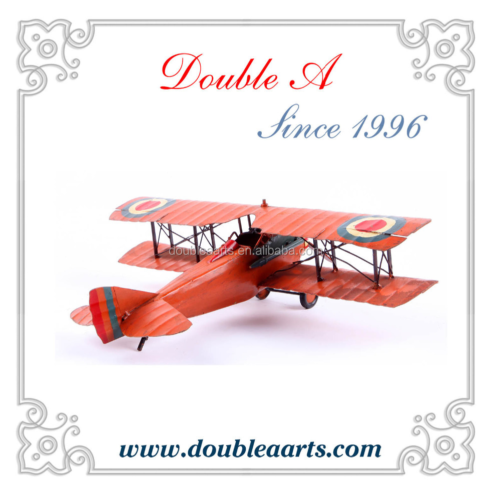 Wholesale metal crafts vintage home decoration pieces metal airplane model creative airplane model home decorative products