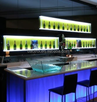 European popular commercial nightclub bar counter acrylic bar counter design