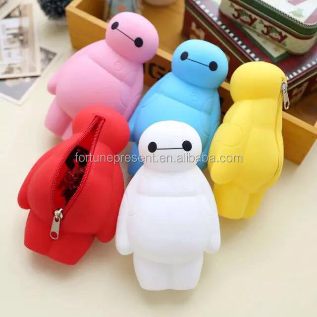 Hot selling Adorable Silicone Animal wallets , Silicone Coin Purse bag with writsband
