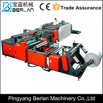 Plc Control Automatic Pp Woven Bag Cutting And Sewing Printing Machine