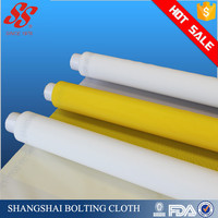 SS 140T-34 white and yellow mesh fabric printing