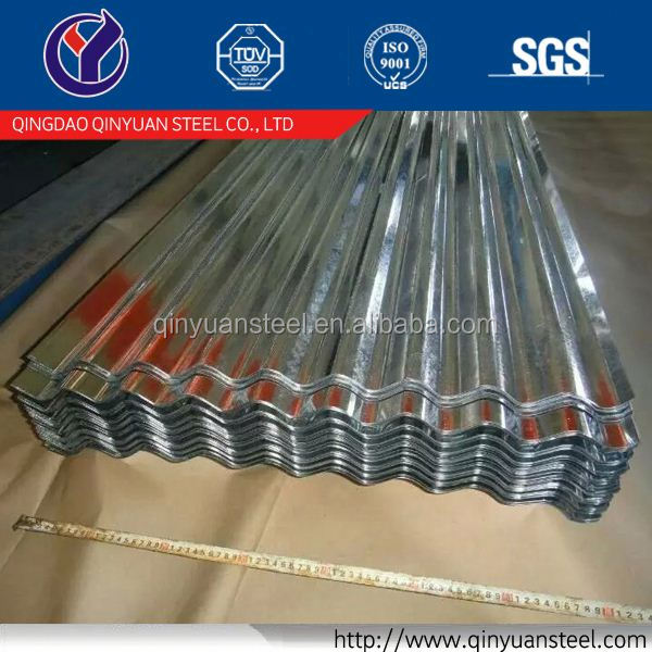 corrugated zinc-alume steel roof tile, 0.12mm 0.14mm 0.16mm galvanized corrugated roofing steel sheets