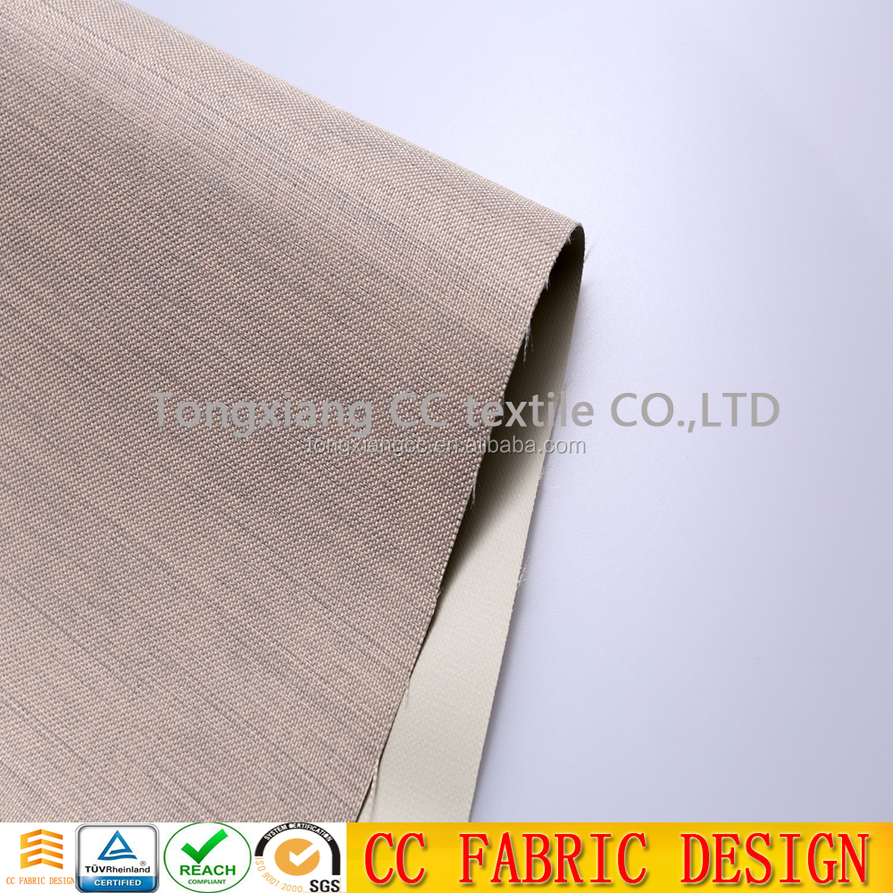 popular african pvc,silicone silver coated blackout curtain fabric for beach hotel , curtain