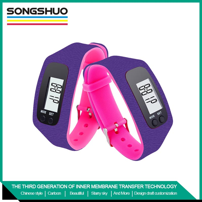fashionable free sample silicone pedometer running distance calculate watch