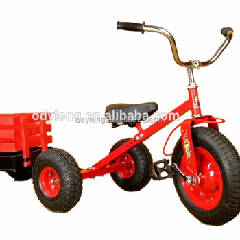 Children pedal go kart With Trailer kid tricycle F80AB