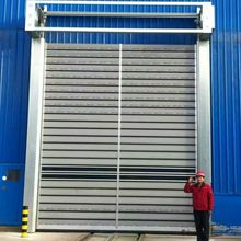 High Quality Aluminum PU Insulated Spiral High Speed Door Hard material high speed rolling door Rapid hard material spiral door