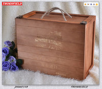 Excellent Wood Gift Wood Box with Rope for Wine Bottles