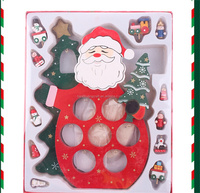 Wholesale Wooden Santa Claus Christmas wooden Crafts Christmas Wood Decoration