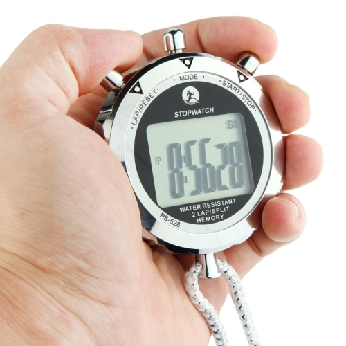 Metal Stopwatch Professional Chronograph Handheld Digital LCD Sports Counter <strong>Timer</strong> with Strap