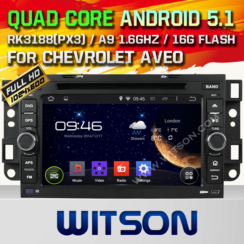 WITSON ANDROID 4.4 CAR DVD GPS PLAYER FOR CHEVROLET AVEO 2002-2011 WITH A8 DUAL CORE CHIPSET DVR SUPPORT WIFI 3G APE