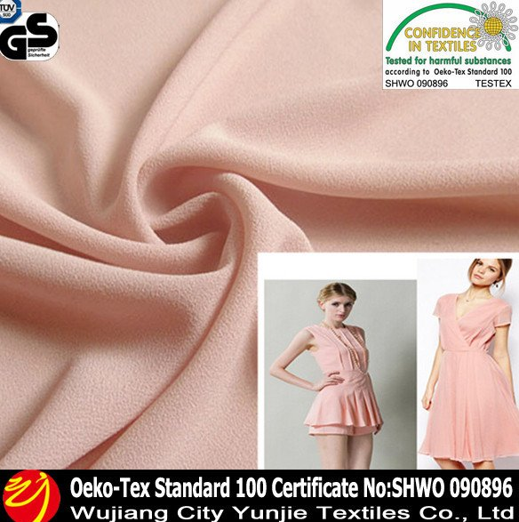 china supplier 100% polyester wholesale chiffon fabric for muslim wedding dress