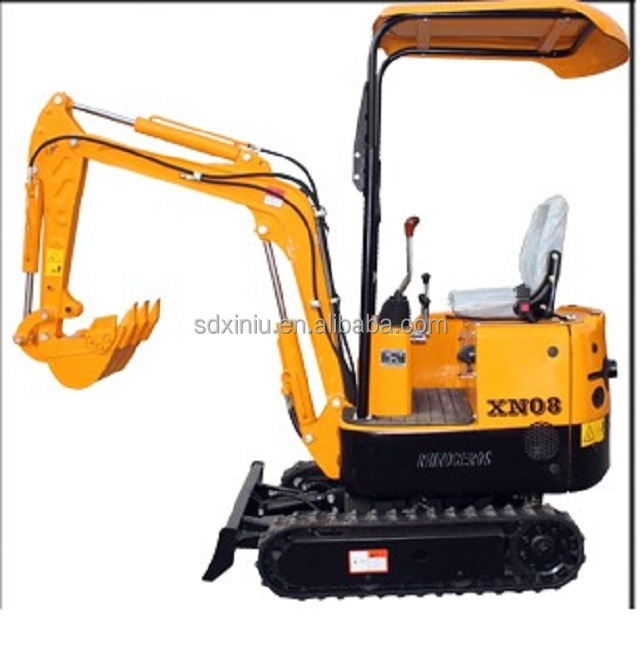 Chinese cheap mini excavator digger 0.8t for Garden manufacturer hot sale mini digger with best price best quality for sale