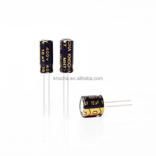 KNSCHA Aluminum electrolytic capacitor 6.8uf 25v with white color,widely used in liner power supply