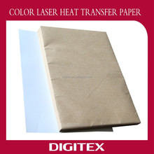 Customized color laser transfer paper for aprons