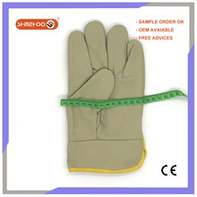 SHINEHOO Motor Driving Cow Leather Gloves Truck Driver Driving Gloves
