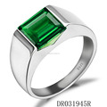 Customize Jewelry synthetic Green Spinel Sterling Silver Ring DR031945R