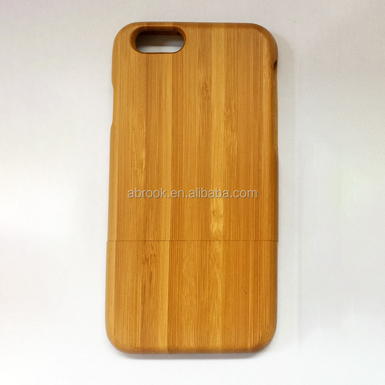 Real bamboo cell phone case for iphone 6s plus,for bamboo iphone 6s case