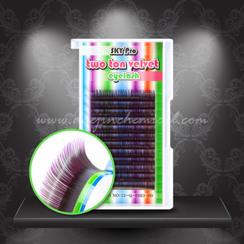 Two-ton eyelash - Purple