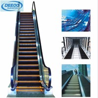 low noise shopping mall handrail escalator residential lift