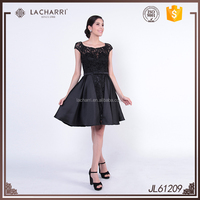Lastest Fashion Beaded Lace Short Party Evening Dress