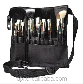 Woman Protable Cosmetic For Professional Makeup Brush Storage Bag PU Leather Messenger Make up Bags Holder Cosmetic brush bag