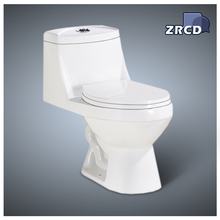 One-piece ceramic toilet and slowly turn off the toilet seat