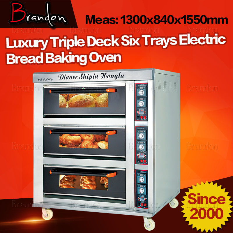 Brandon 3 deck 6 trays commercial bread electric oven