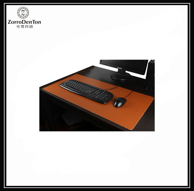 Genuine Leather Desk Pad/Mat Blank Top Waterproof Large Gaming Mouse Pad