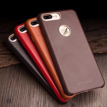 Qialino dropshipping custom leather phone case for iPhone 7/7 Plus case