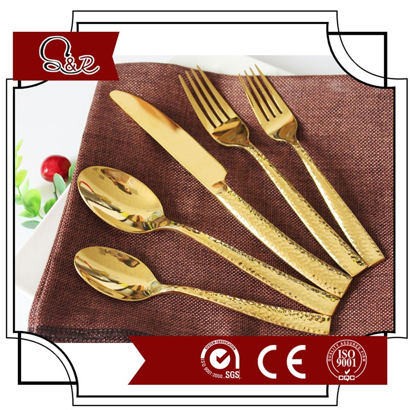 colorful metal christmas decor set cutlery 72pcs set of cutlery set