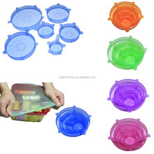Food grade silicone stretch lids cover for fresh keeping flexible silicone stretch cover