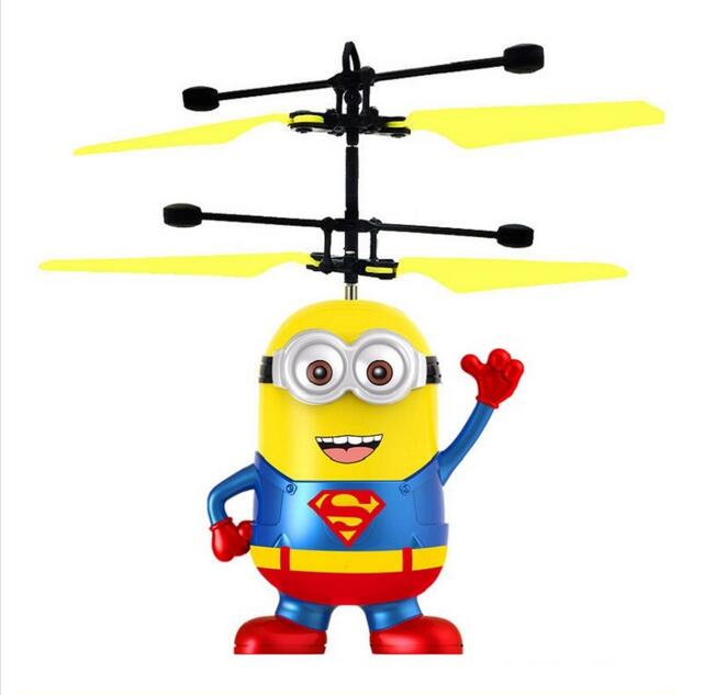 Despicable Me Minions Infrared RC Flying Ball Helicopter Flying Toys for kids