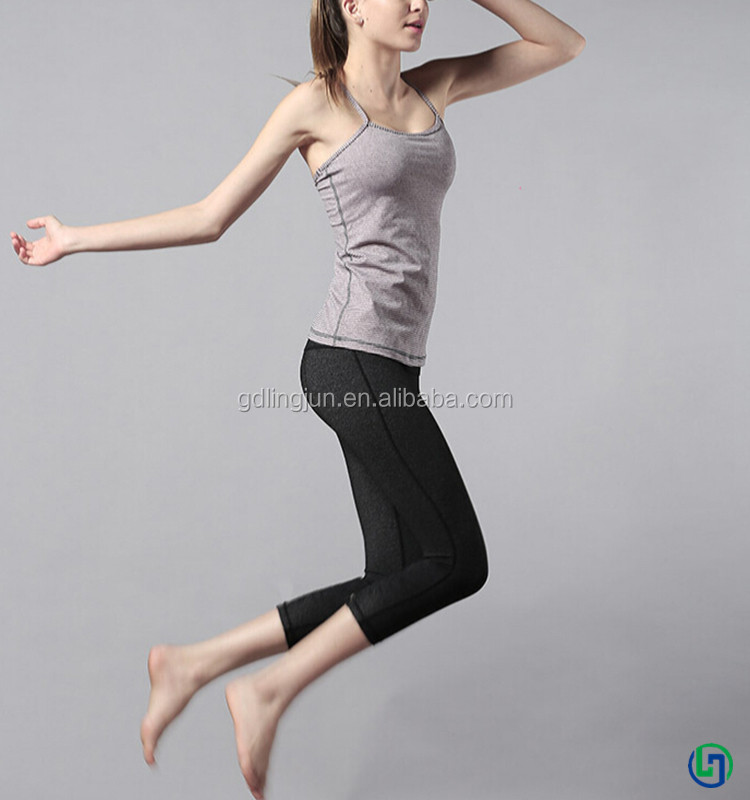 Cheap Custom yoga tank top women yoga fitness wear sports suit wholesale china