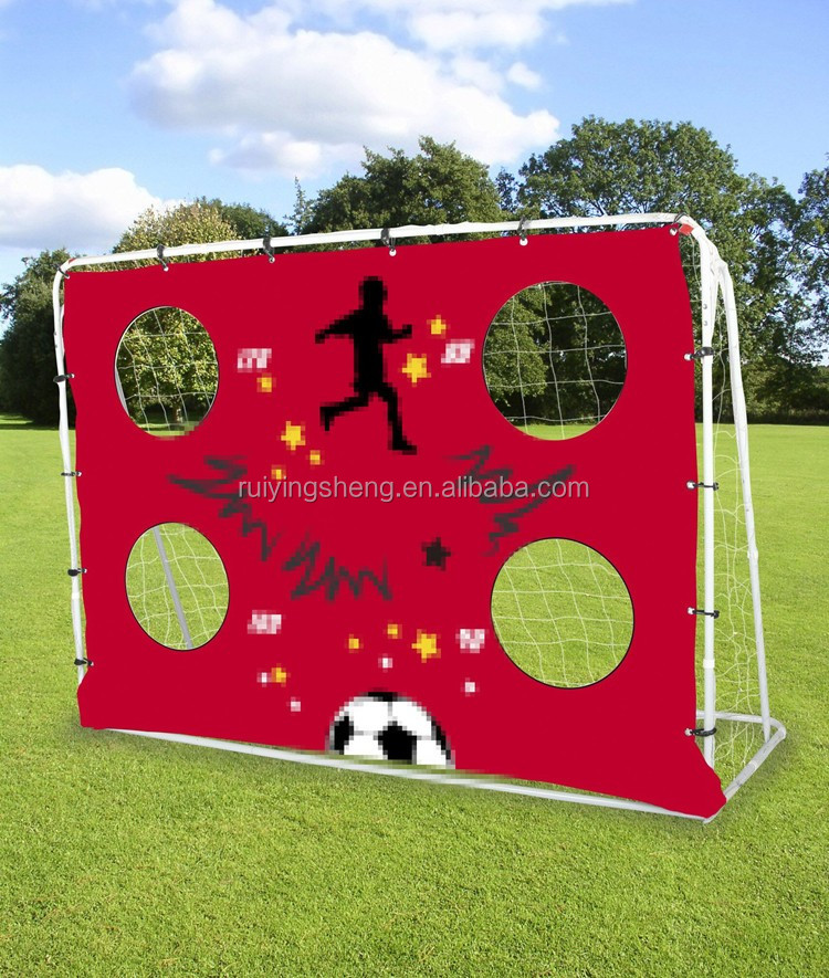 Three functions rebounder Metal soccer Goal with target shot