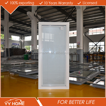 Aluminum Double Tempered Glass Security Window With blind inside double glass window