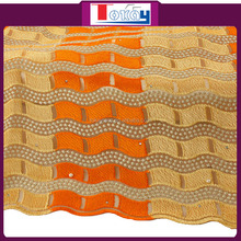 Net materials High Quality Lace Fabric Beads with Stones 2016