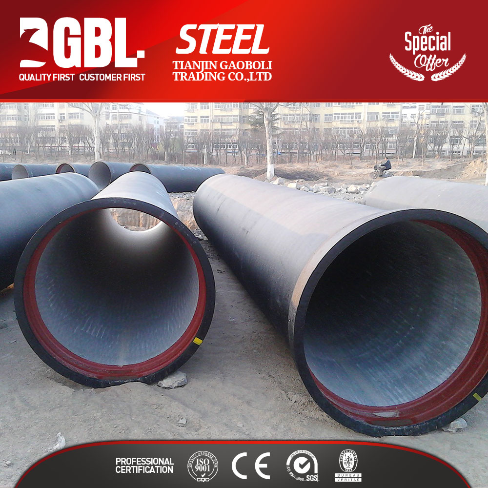 china supplier low price sewage water c40 cement lined ductile iron 800mm diameter pipe