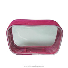Fashionable Transparent Clear Cosmetic Bag, Clear plastic PVC Makeup Bags