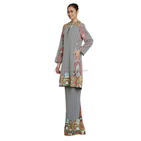 New Fashion Design Baju Kurung Muslim Cloth with Lace Dress