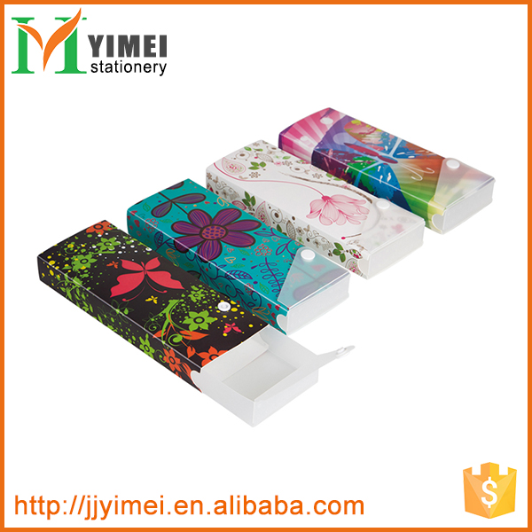 Beautiful Fashion Snap Plastic Pencil Box PP Pencil Case With Printing